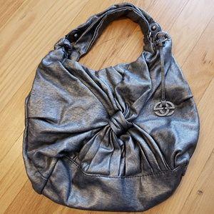 Marc Ecko Silver Oversize Shoulder Bag